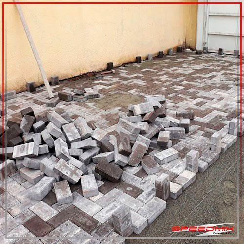 Instalação de piso intertravado