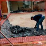 Instalação de piso drenante